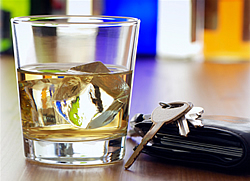 Glass of Alcohol with Car Keys