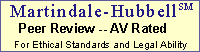 Martindale-Hubbell – for ethical standards and legal ability
